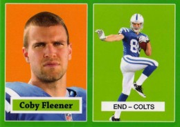 2012 Topps Football 1957 Green Border 20 Coby Fleener 260x184 Image