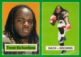 2012 Topps Football 1957 Green Border 5 Trent Richardson 260x185 Image