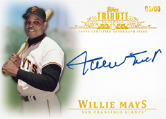 2013 Topps Tribute Baseball Autographs Willie Mays Image