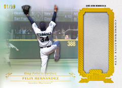 2013 Topps Tribute Baseball Commemorative Cut Felix Hernandez Image