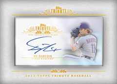 2013 Topps Tribute Baseball Framed Mini Autograph Yu Darvish Image
