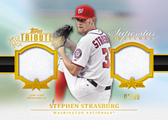 2013 Topps Tribute Baseball Superstar Swatches Stephen Strasburg Image