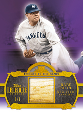 2013 Topps Tribute Baseball Tribute to the Stars Purple Babe Ruth Bat Image