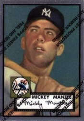 1996 Topps Baseball Mickey Mantle Reprints Finest Card  Image
