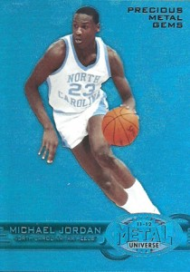 2011-12 Fleer Retro Basketball Precious Metal Gems Blue PM-1 Michael Jordan