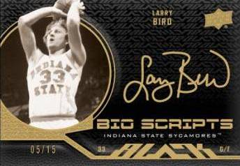 2011 12 Upper Deck Exquisite Basketball Bio Scripts Larry Bird Image