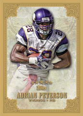 2012 Topps Five Star Football Adrian Peterson Image