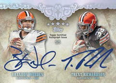 2012 Topps Five Star Football Dual Autograph Brandon Weeden and Trent Richardson Image