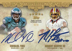 2012 Topps Five Star Football Dual Autograph Michael Vick and Robert Griffin III Image