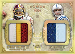 2012 Topps Five Star Football Dual Patch Robert Griffin III and Andrew Luck Image