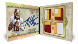 2012 Topps Five Star Football Quad Patch Autograph Book Card Robert Griffin III 260x146 Image