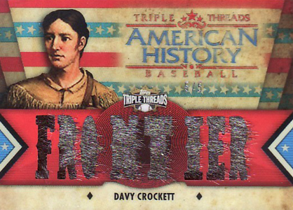 2012 Topps Triple Threads American History Relics Davy Crockett Image