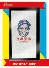 2013 Topps Heritage Baseball Tattoo Buyback Willie Mays Image