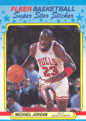 1988-89 Fleer Basketball Stickers Michael Jordan