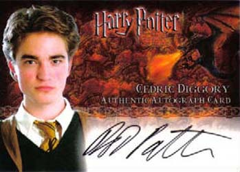 2005 Artbox Harry Potter and the Goblet of Fire Robert Pattinson Autograph