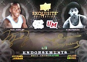2011 12 Exquisite Endorsements Dual Card Image