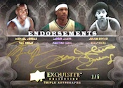 2011 12 Exquisite Endorsements Triple Card Image