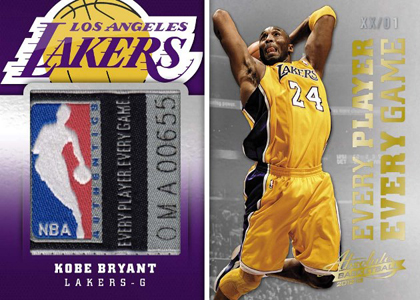 2012 13 Panini Absolute Basketball Every Player Every Game Laundry Tag Kobe Bryant1 Image