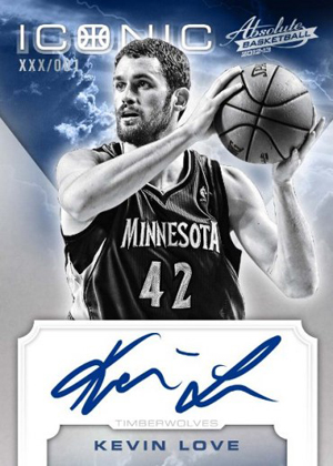 2012 13 Panini Absolute Basketball Iconic Autograph Kevin Love1 Image