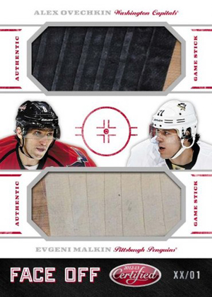 2012 13 Panini Certified Hockey Face Off Alexander Ovechkin Evgeni Malkin Image