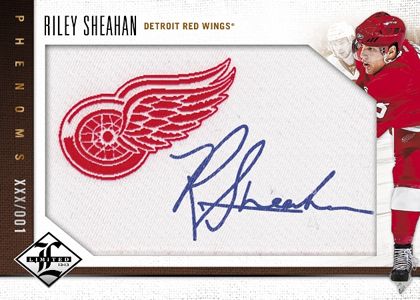 2012 13 Panini Limited Hockey Phenoms Autograph Riley Sheahan Image