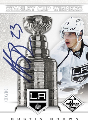 2012 13 Panini Limited Hockey Stanley Cup Winners Autographs Dustin Brown Image