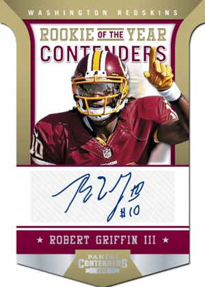 2012 Panini Contenders Football Rookie of the Year Contenders Autographs Robert Griffin III Image