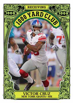 2013 Topps Archives Football 1000 Yard Club Victor Cruz Image