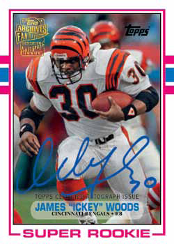 2013 Topps Archives Football James Ickey Woods Autograph Image