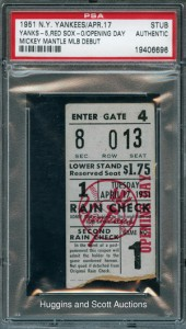 1951 NY Yankees Opening Day Ticket Stub 170x300 Image