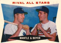 1960 Topps Mickey Mantle 160 Ken Boyer Rival All Stars 260x184 Image