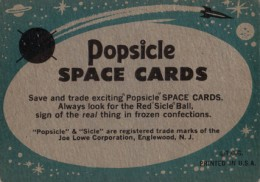 1963 Topps Astronauts Popsicle Back