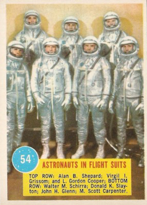 1963 Topps Astronauts Trading Cards
