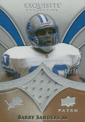 2009 Upper Deck Exquisite Football Patch Card Image