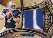2009 Upper Deck Exquisite Football Rookie Big Patch Matchup Card Image