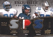 2009 Upper Deck Exquisite Football Triple Patch Trio Card Image