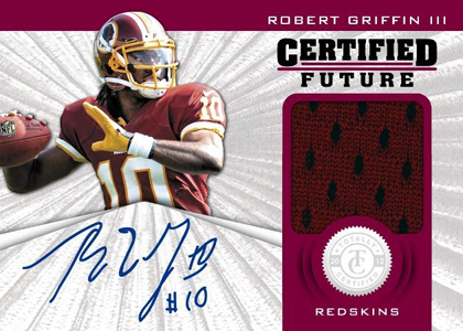 2012 Panini Totally Certified Football Certified Future Autographed Rookie Robert Griffin III Image