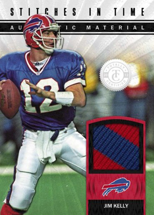 2012 Panini Totally Certified Football Stitches in Time Jim Kelly Image