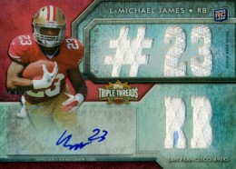 2012 Topps Triple Threads Football LaMichael James RC 23 RB 260x186 Image