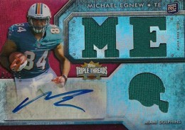 2012 Topps Triple Threads Football Michael Egnew RC ME Helmet 260x183 Image