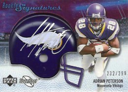 2007 Upper Deck Sweet Spot Adrian Peterson RC 260x187 Image