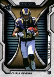 2012 Topps Strata Football Chris Givens 211x300 Image