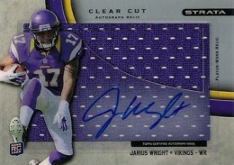 2012 Topps Strata Football Clear Cut Autograph Relic Jarius Wright 260x183 Image