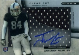 2012 Topps Strata Football Clear Cut Autograph Relic Juron Criner 260x182 Image