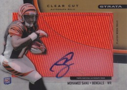 2012 Topps Strata Football Clear Cut Autograph Relic Mohamed Sanu 260x185 Image