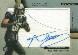 2012 Topps Strata Football Clear Cut Autograph Relic NT Nick Toon 260x186 Image