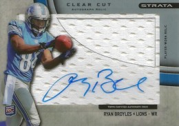 2012 Topps Strata Football Clear Cut Autograph Relic RB Ryan Broyles 260x183 Image