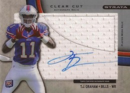 2012 Topps Strata Football Clear Cut Autograph Relic TG TJ Graham 260x185 Image