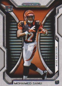 2012 Topps Strata Football Retail Rookies 81 Mohamed Sanu 216x300 Image
