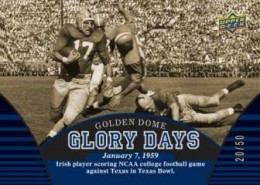 2013 Upper Deck University of Notre Dame Glory Days 260x185 Image